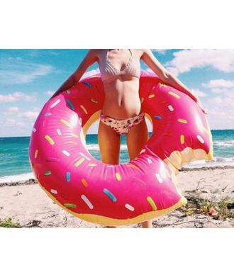 home accessory gigantic donut pool float cool summer beach trendy fashion style teenagers it girl shop