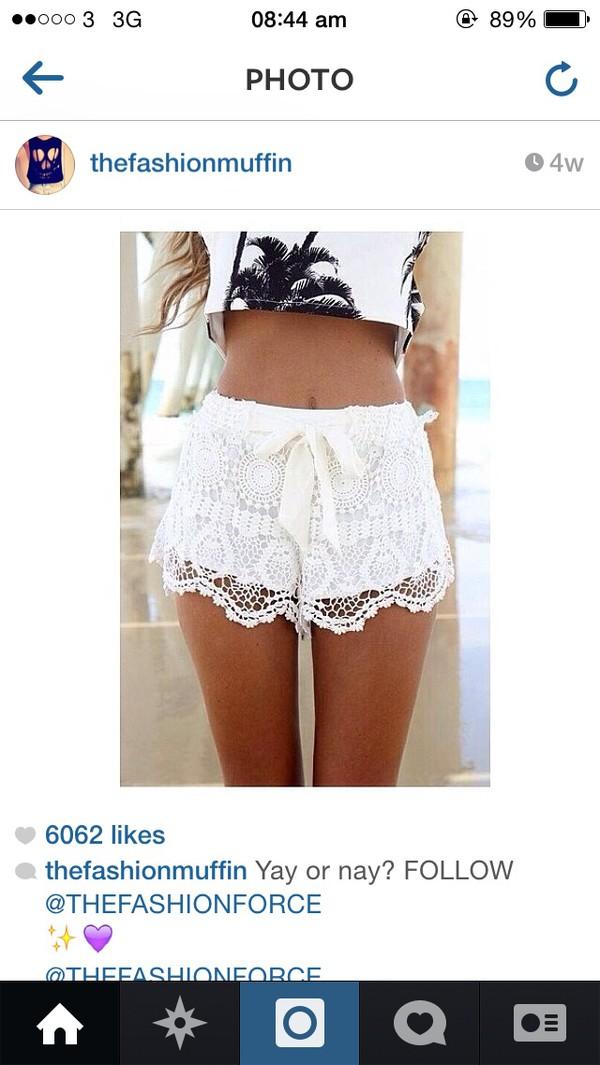 white lace lace shorts shorts bows