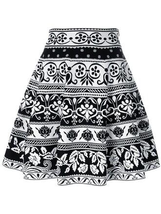 skirt skater skirt knit women spandex jacquard skater black