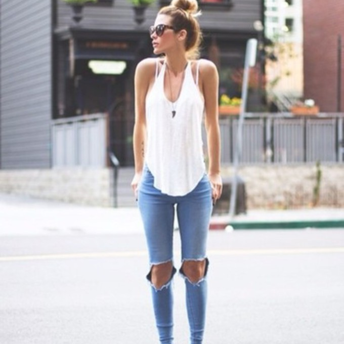 White Blouse And Blue Jeans 38