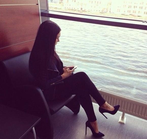 high heels black heels pointed toe