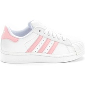 shoes,adidas superstars,adioss,adidas,trainers,pink,adidas shoes,adidas originals,low top sneakers,white sneakers