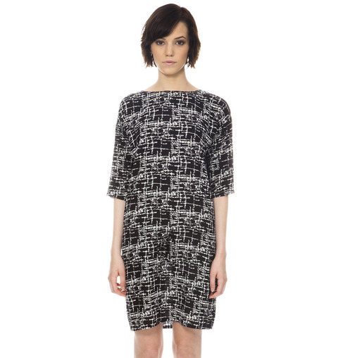 Shades of Grey - Lindsey Shift Dress-Black Matrix
