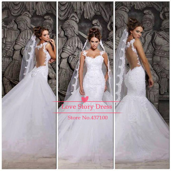 Aliexpress.com : Buy Custom Made 2014 Vestido De Noiva White New Popular Applique And Beaded Sleeveless Button Back A Line Wedding Dresses 5296 from Reliable custom wedding dress designer suppliers on Suzhou Babyonline Dress Co. , Ltd