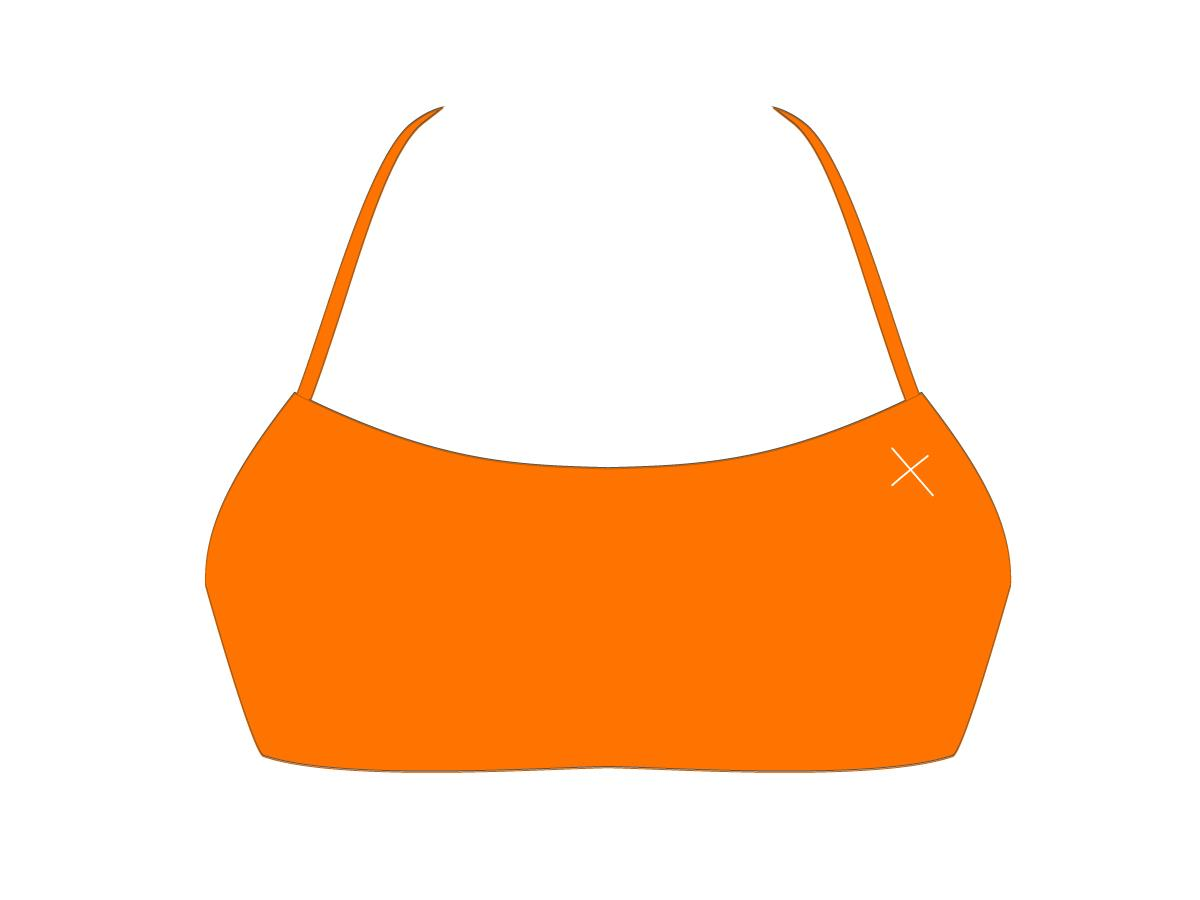Wild Orange Halter Top