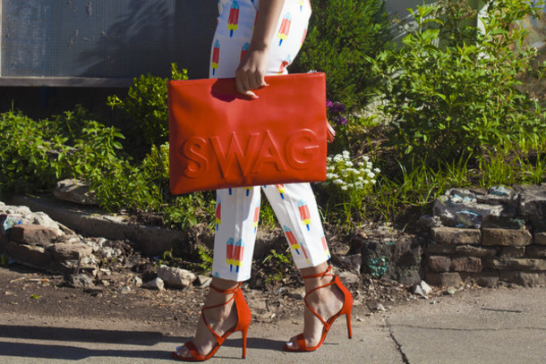 Red Oversized Clutch May 2017