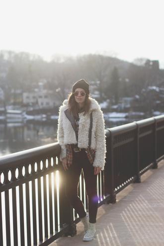orchid grey blogger fluffy winter jacket