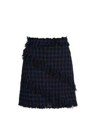 skirt blue black