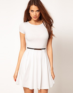 ASOS | ASOS Skater Dress with Cap Sleeves at ASOS
