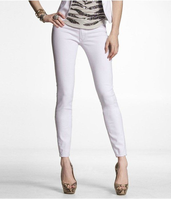 EXPRESS ZELDA WHITE WASH ULTRA LOW RISE SLIM FIT SKINNY LEGGING ...