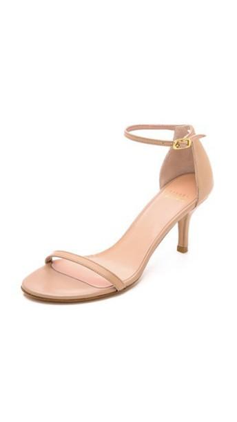 STUART WEITZMAN light sandals camel shoes