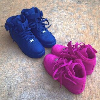 shoes purple cute nike air force nike vibrant blue airf 1 blue pink sneakers nike air force 1 dope urban nike air