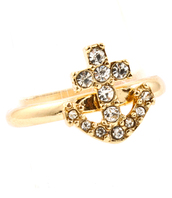 jewels,anchor ring,gold ring