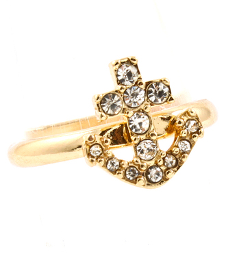 jewels anchor ring gold ring