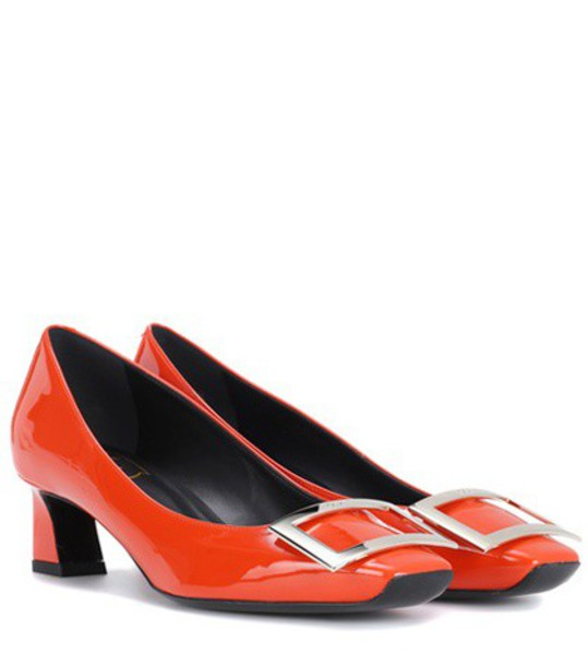 Roger Vivier pumps leather yellow shoes
