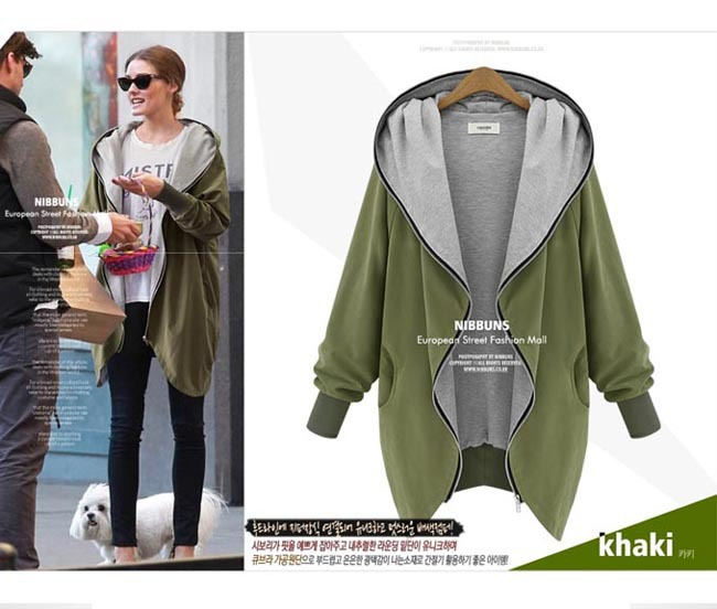 Aliexpress.com : Buy Brand NEW 4xl 5xl Large Size Women Clothing femininos chaqueta abrigo Autumn Loose Long Hooded Sweatshirt Coat Jacket Zipper from Reliable zipper necktie suppliers on Vogue Official Online Shop