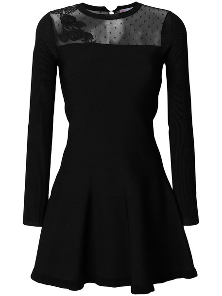 dress mini dress mini embroidered women floral black