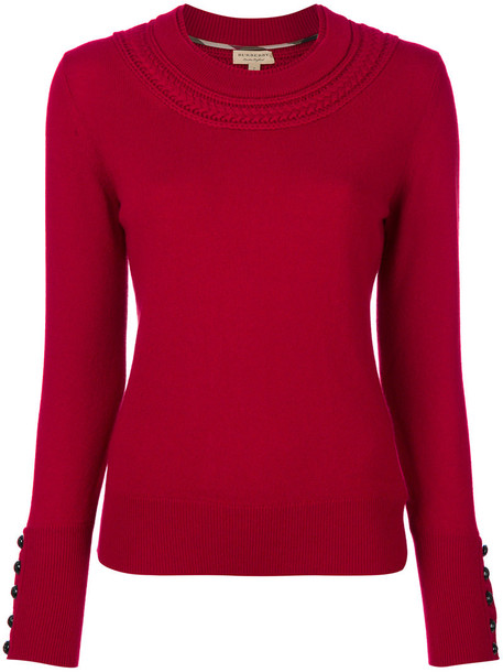 Burberry sweater women knit red