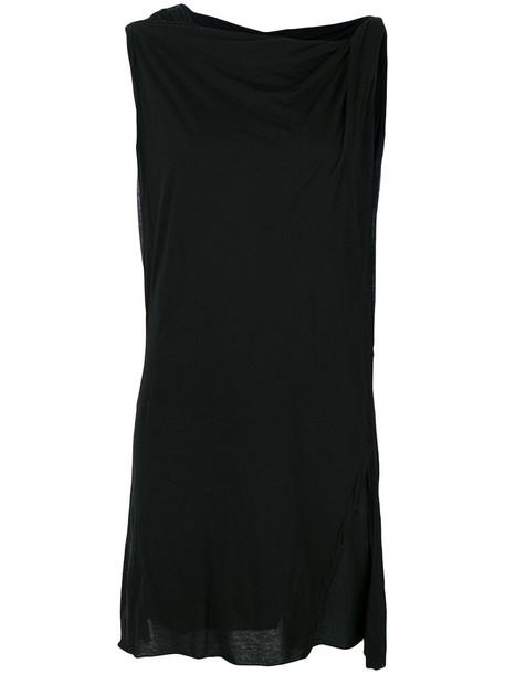 Rick Owens Drkshdw - long tank top - women - Cotton - L, Black, Cotton