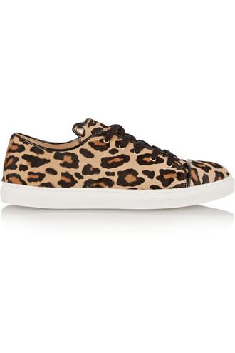 hair sneakers print leopard print shoes