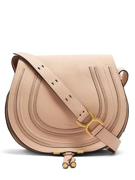 Chloe cross bag leather light pink light pink
