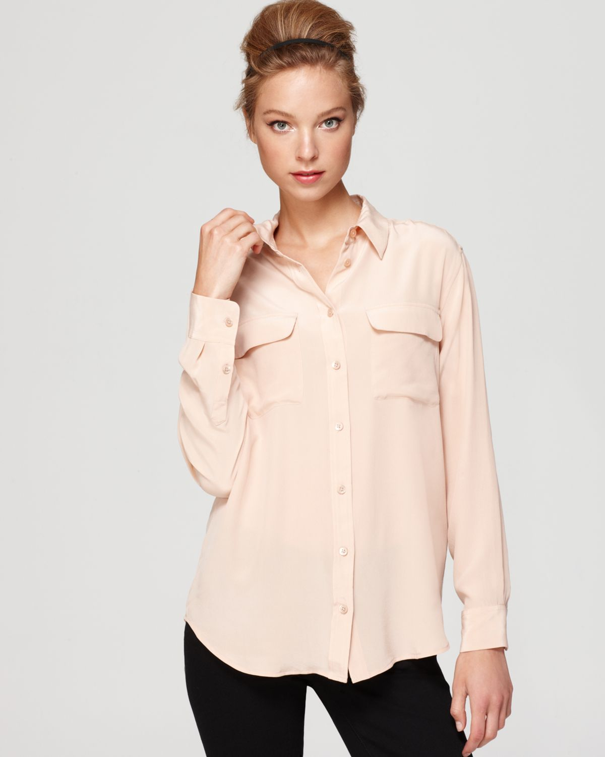 Equipment Signature Blouse | Bloomingdale's