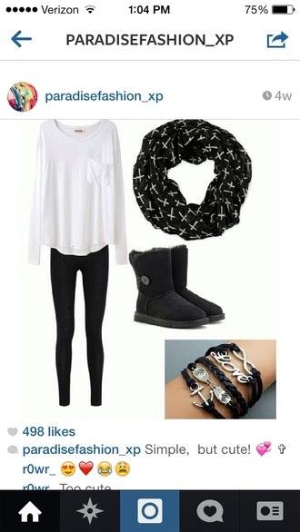 scarf black scarf white cross