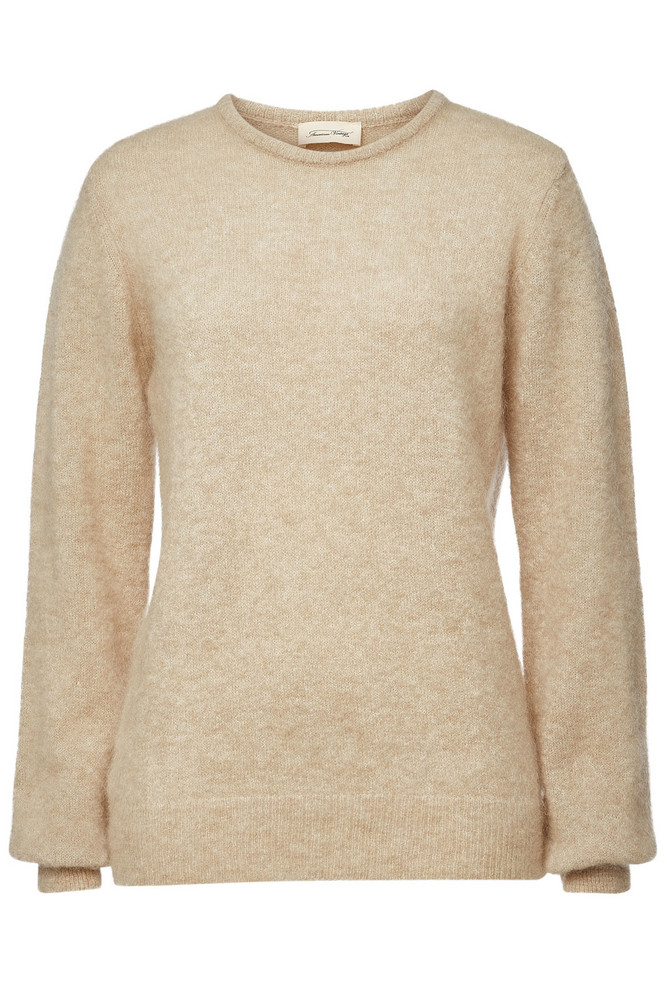 American Vintage Pullover with Mohair and Wool  in beige / beige