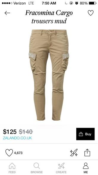 pants cargo khaki