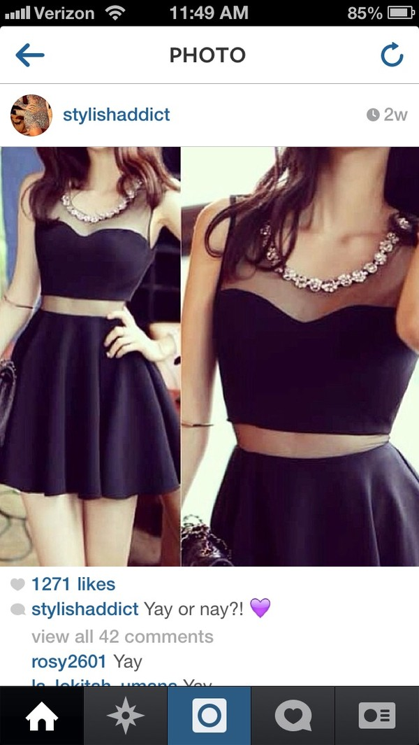 dress black black dress little black dress prom dress jeweled dress pretty sexy cute necklace diamonds summer