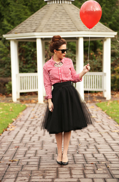 jewels tulle skirt blogger sunglasses dress corilynn shirt retro
