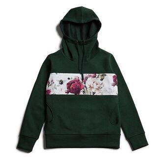 sweater green hoodie printed hoodie flowers fusion hoodie floral hooded hooded sweatshirt print hood