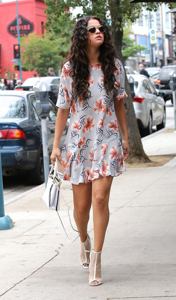 summer dress floral dress heels shoes