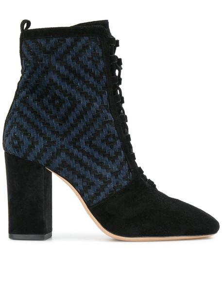 Alexandre Birman women ankle boots lace leather black shoes