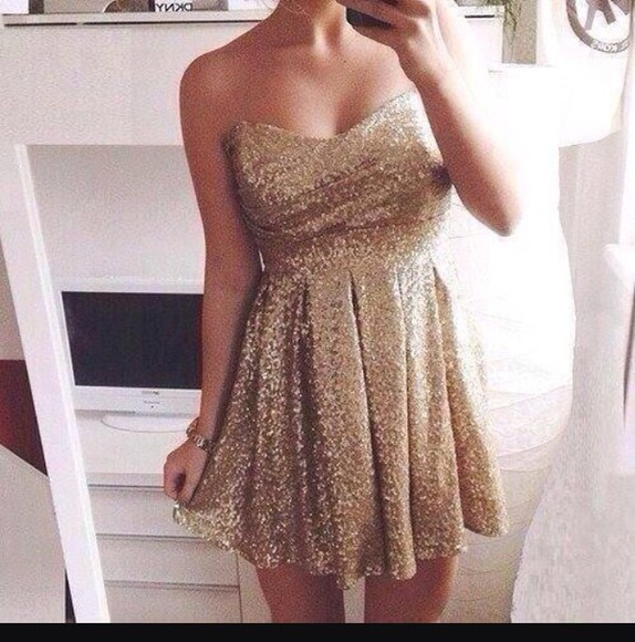 dress gold sequins gold cute dress cute short dress