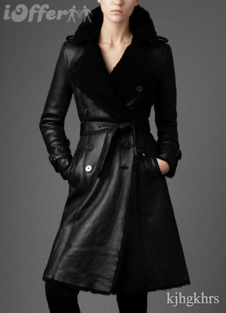 black leather black coat leather coat