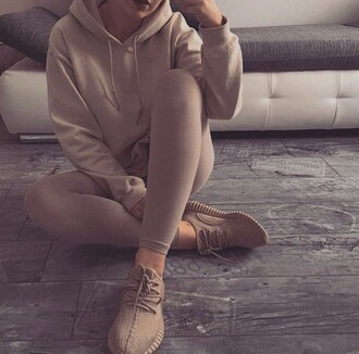 sweater leggings nude all nude everything hoodie yeezy 350 boost adidas swag yeezy beige sweater shoes adidas shoes causla shoes adidas yeezy adidas originals nude sneakers jacket tumblr ootd tumblr girl girl tumblr outfit beige lax confort tights brown leggins top yeezus tan