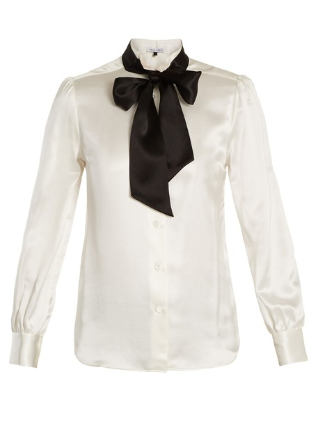 Bella Freud shirt silk satin top