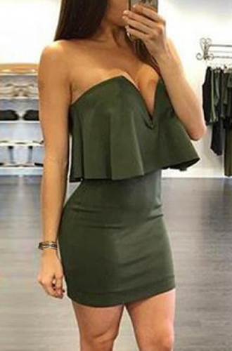 dress green sexy party hot fashion style trendy trendsgal.com