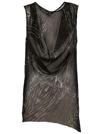 top sleeveless top sleeveless draped black