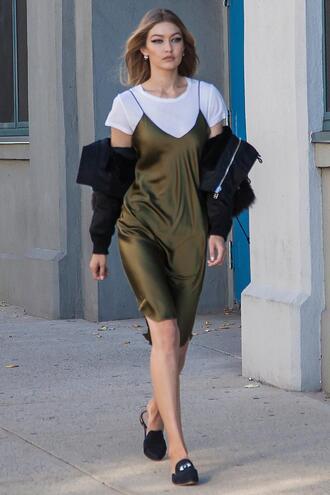 dress shoes mules gigi hadid model top editorial