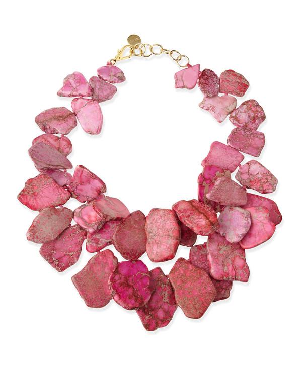 jewels chunky light pink jasper necklace pink necklace
