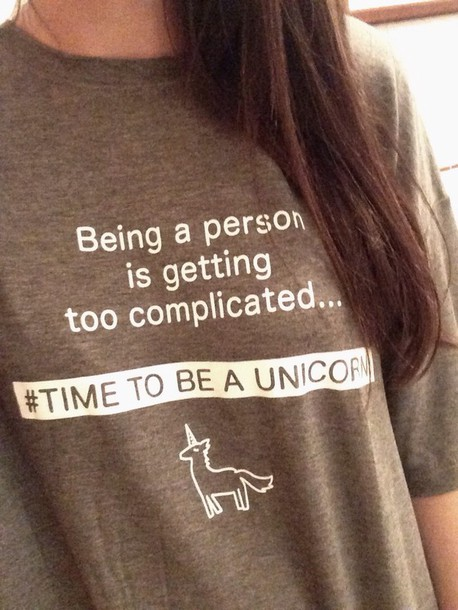 shirt unicorn cotton
