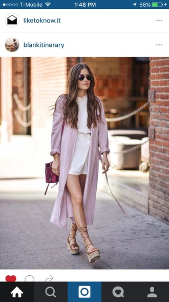 sunglasses glasses sunnies accessories accessory summer summer accessories trendy look for less blogger paola alberdi jumper pink coat long coat pink bag wedges lace up heels