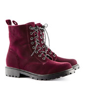 shoes,velvet,red velvet,boots,combat boots,h&m,grunge shoes,burgundy boots
