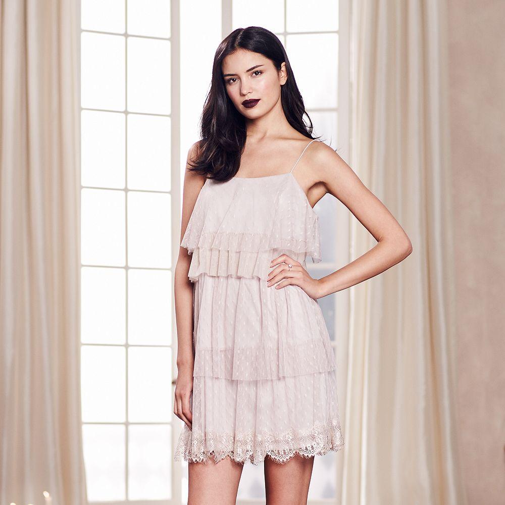 13b2ecda27 LC Lauren Conrad Runway Collection Tiered Shift Dress - Women s