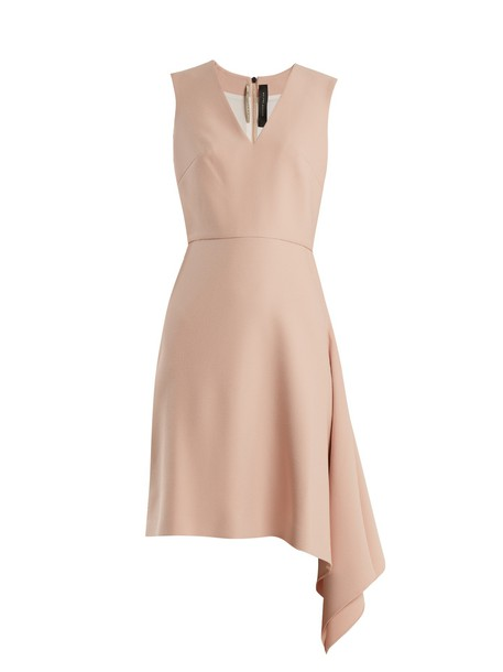 Roland Mouret dress draped light pink light pink
