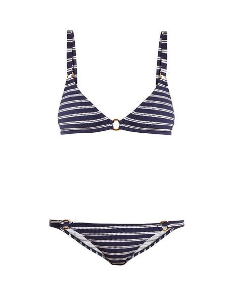 Melissa Odabash bikini triangle bikini triangle navy white swimwear