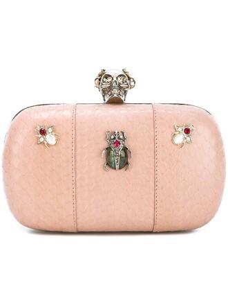skull clutch purple pink bag