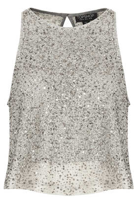 Sequin Swing Top - Sleeveless Tops - Tops  - Clothing - Topshop
